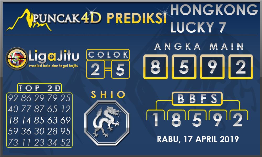 PREDIKSI TOGEL HONGKONG LUCKY7 PUNCAK4D 17 APRIL 2019