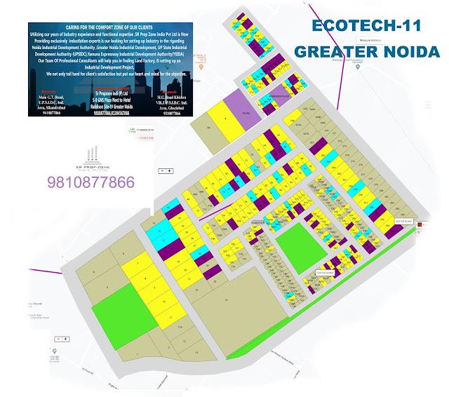 Layout Plan Of Ecotech-11 Greater Noida GPS MAP, HD Print Map