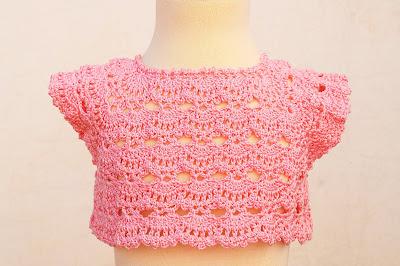 4 - Crochet Imagen Canesú rosa a crochet y ganchillo por Majovel Crochet