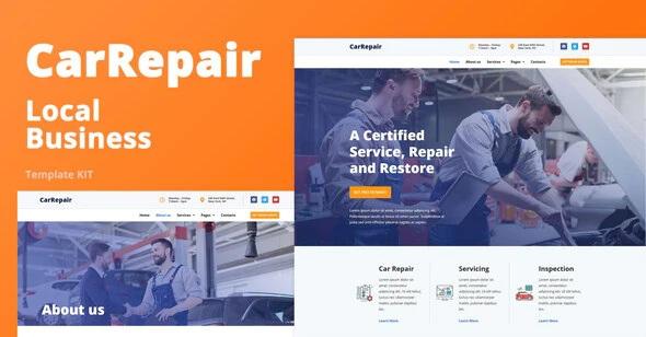 Automobile Repair Shop Elementor Template Kit
