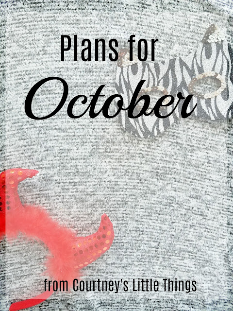 3 plans for October 2017