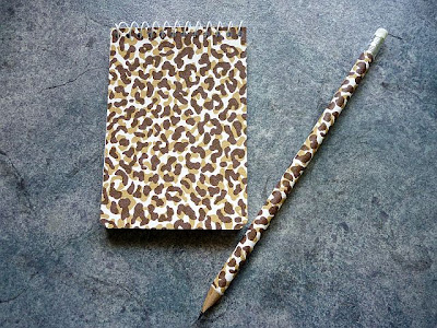 Vintage Wallpaper Covered Notepads & Pencils