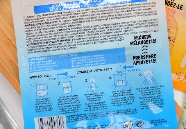 Garnier SkinActive Fresh Mix Aqua Boost Sheet Mask
