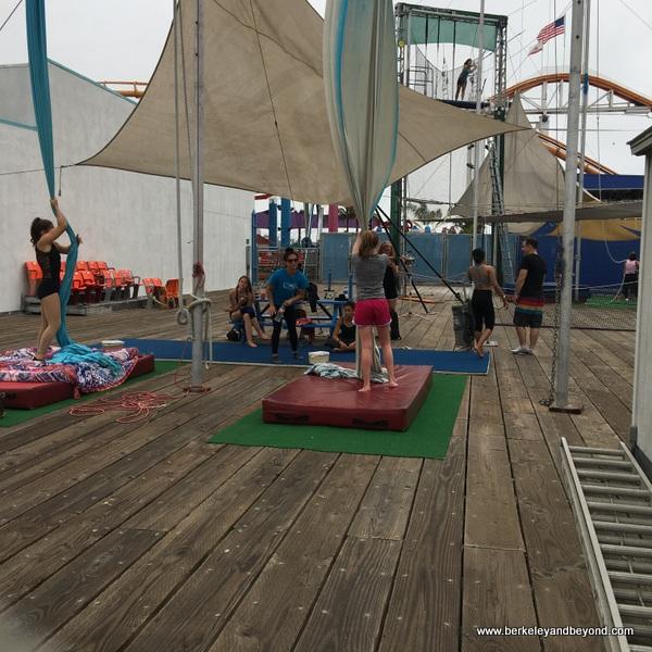 trapeze school at Santa Monica Pier in Santa Monica, California