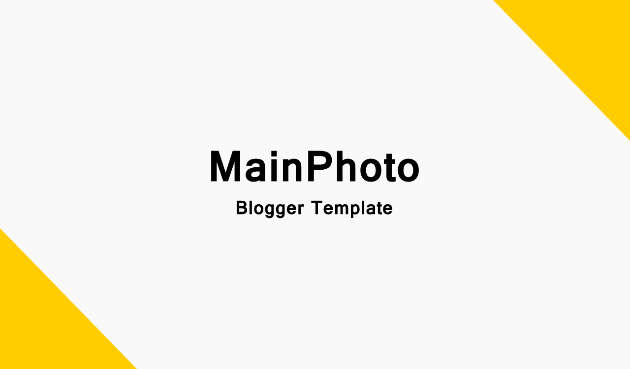 blogger template for photo blog