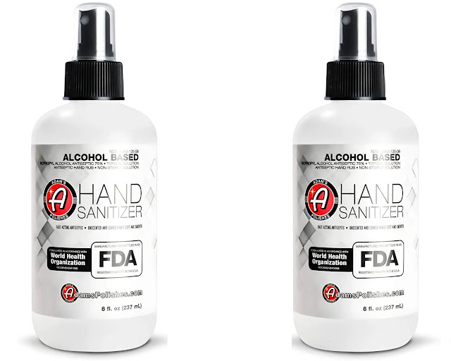 8-  Adam's Hand Sanitizer (3 Pack)