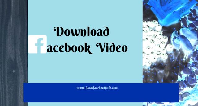 Download Facebook URL Video