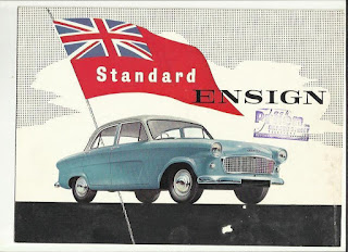 Jack Pruen Ltd, Oxford Street, Weston Super Mare - dealer address stamp on Standard Ensign brochure