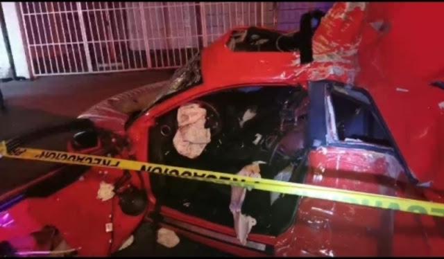 URGENTE. Fueron 5 jóvenes muertos; hicieron pedazos su coche en Ecatepec