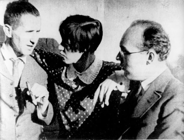 Bertolt Brecht, Lotte Lenya and Kurt Weill in 1928