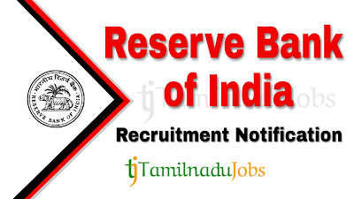 RBI recruitment notification 2019, govt jobs in India, central govt jobs, govt jobs for graduate, govt jobs for post graduate