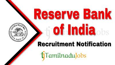 RBI recruitment notification 2019, govt jobs in India, central govt jobs, govt jobs for graduate, govt jobs for post graduate