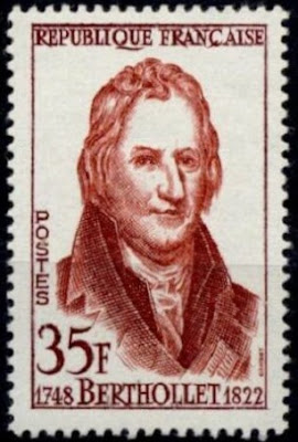 Chemist Claude-Louis berthollet (1748-1822) France 1958