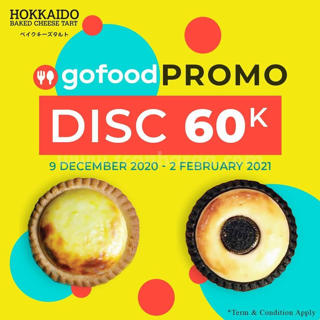 Hokkaido Baked Cheese Tart Promo – Diskon Rp 60.000 khusus Pesan via Gofood