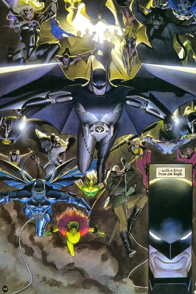 Armadura voladora de Batman en Kingdom Come
