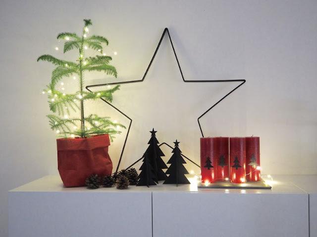 zicos.fi, zicos, adventtinumerot, uashmama, huonekuusi, kuusi, tine k, tähti, punainen joulu