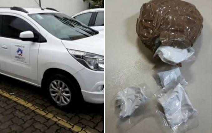 Motorista é preso com cocaína em carro da Caixa da Previdência de Umburanas