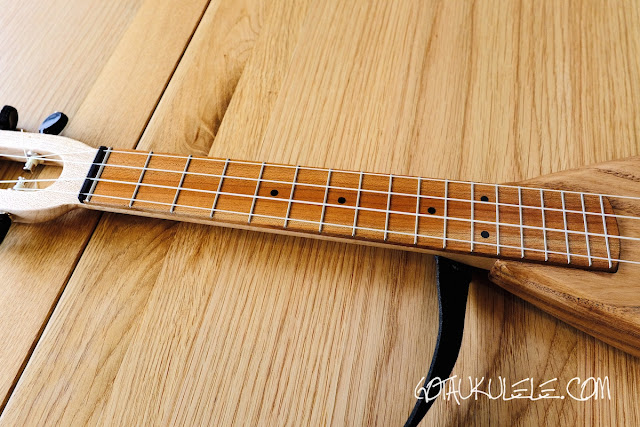 Magic Fluke SB Electric Tenor Ukulele neck