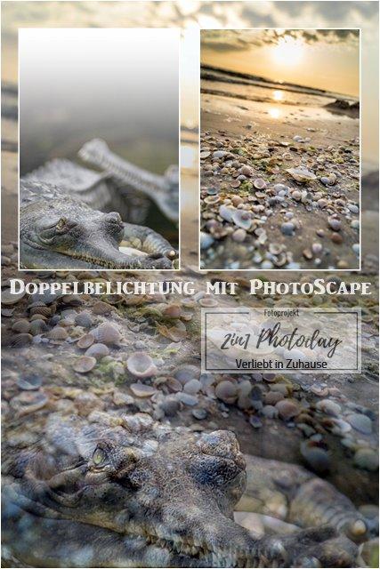 Fotoprojekt 2in1 Photoday: Bildbearbeitung und Doppelbelichtung in PhotoScape