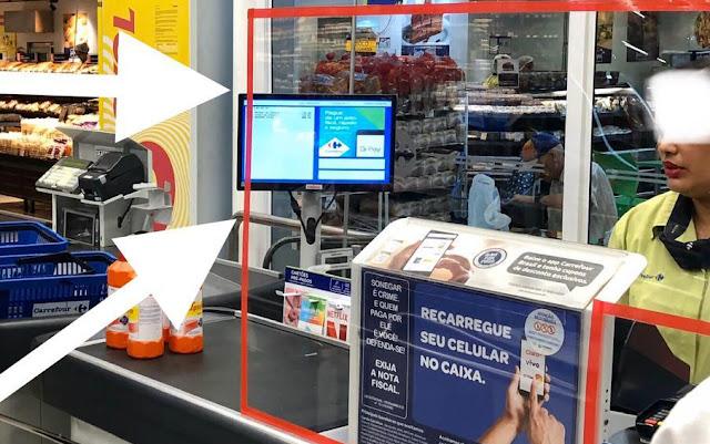 Lojas do Armazém do Grão em Petrópolis recebem barreira nos caixas para proteção