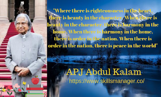 """Where there is righteousness in the heart, there is beauty in the character. When there is beauty in the character, there is harmony in the home. When there is harmony in the home, there is order in the nation. When there is order in the nation, there is peace in the world"""