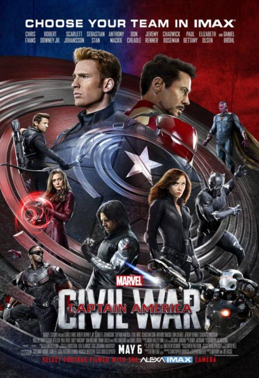 Nuevo póster IMAX de 'Capitán América: Civil War'