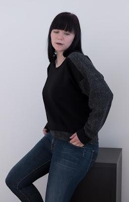 Sew Diy Ali Sweatshirt sewing pattern made by Minnsthings
