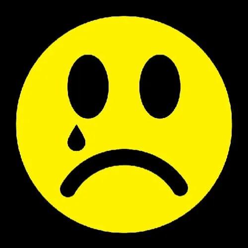 Sad emoji DP for girls