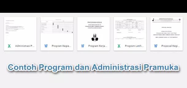 Contoh Program dan Administrasi Pramuka