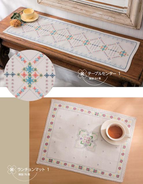 японская вышивка, лаконичная вышивка