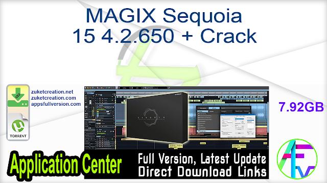 MAGIX Sequoia 15 4.2.650 + Crack
