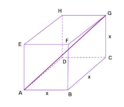 how to find diagonal of a cube