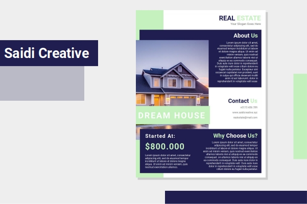 Free Download Real Estate Flyer Template Microsoft Word Document Fully Editable File