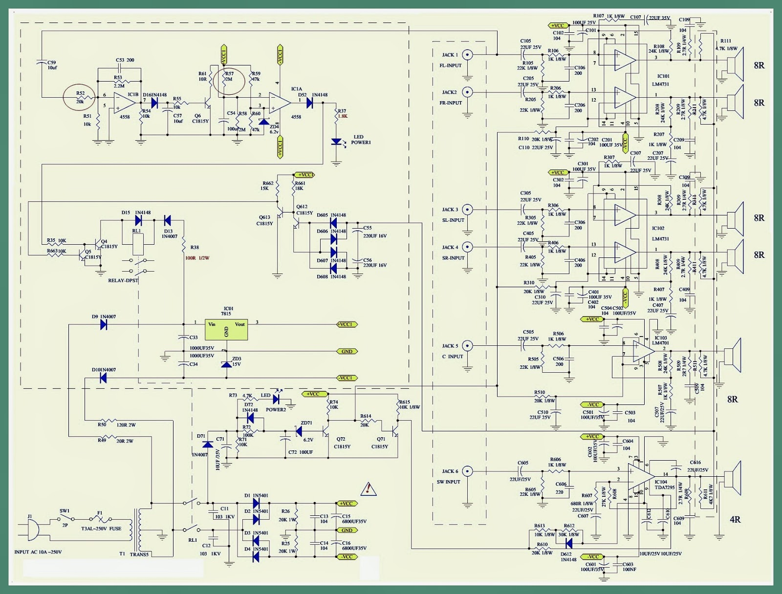 Pre Amp Circuits Diagrams Free Wiring Diagram For You Vintage Guitar Schematics Get Image About A6652 Microlab Computer Speaker System Schematic Preamplifier Circuit Preamp