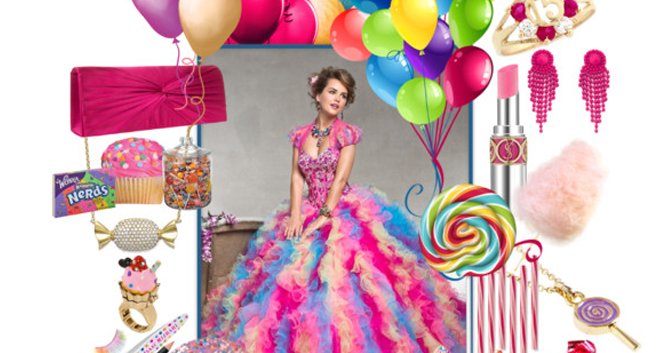 Colorful Candyland Quinceanera Sweet Fifteen Theme