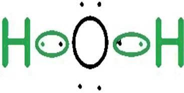 El agua forma un enlace sencillo donde sólo se unen dos pares de electrones - ¿Qué es un enlace químico y en qué se clasifican? - sdce.es - sitio de consulta escolar