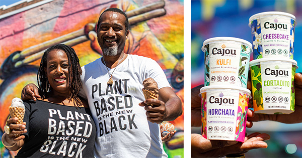 Dwight Campbell and Nicole Foster, founders of Cajou Creamery