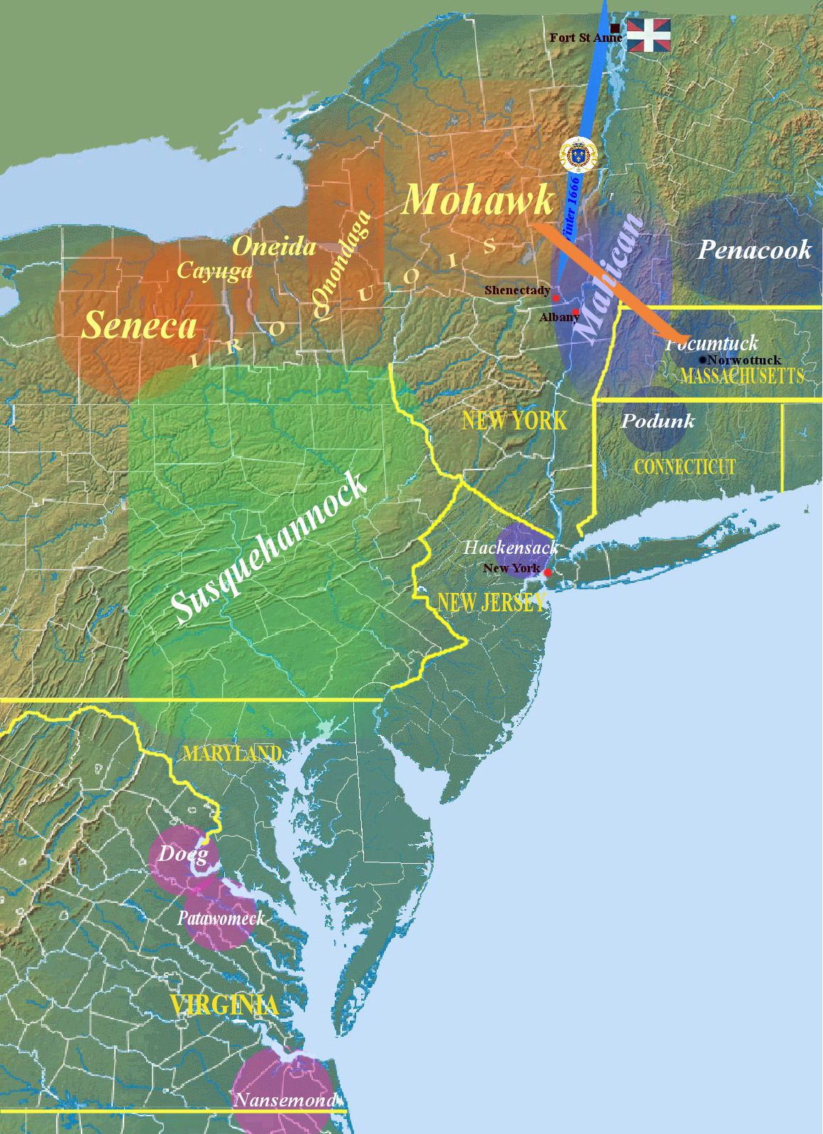 may 1666 impressed by the military campaign led during winter by the french mohawks choose to start negotiations governor nicholls promises to