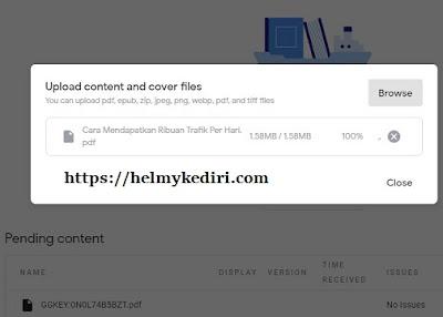 Upload buku pertama ke google play book4