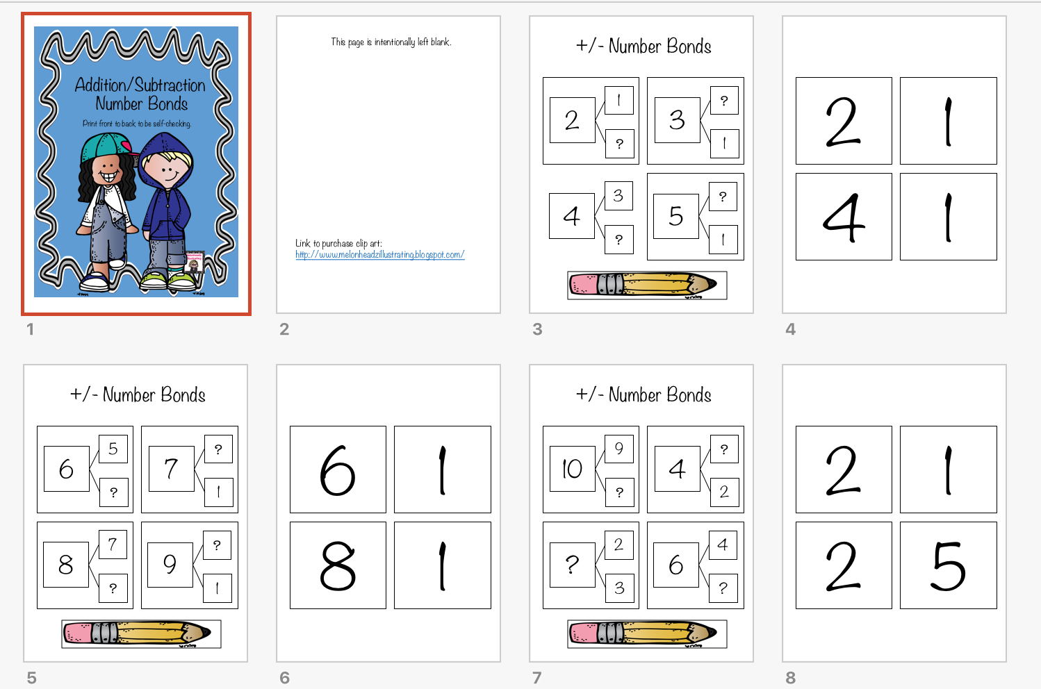 Cheryl S Classroom Tips Addition Subtraction Number Bonds