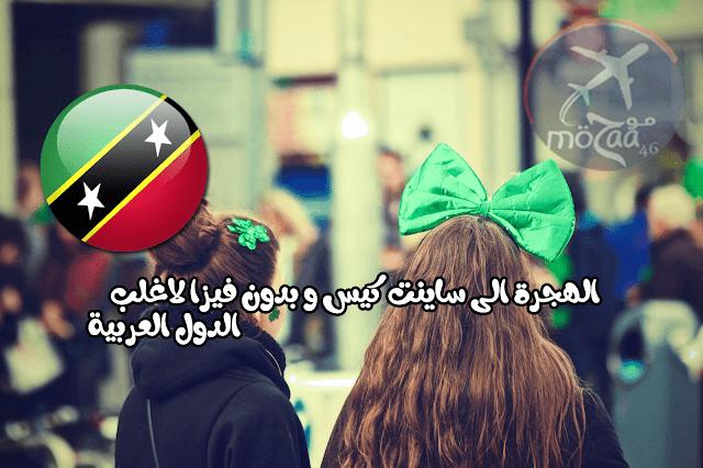 الهجرة الى ساينت كيس و بدون فيزا لاغلب الدول العربية بغرض السفر الى اوروبا – فرصة عظيمة