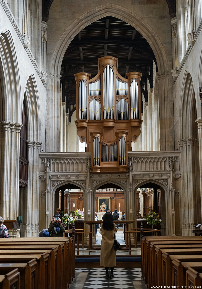 Inside the University Church of St Mary in Oxford