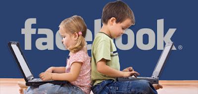 Child using Facebook