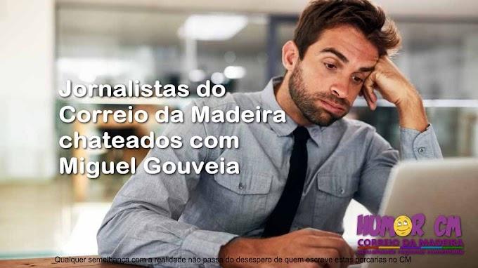 Jornalistas do Correio da Madeira chateados com Miguel Silva Gouveia