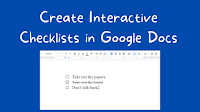 Checklists in Google Docs