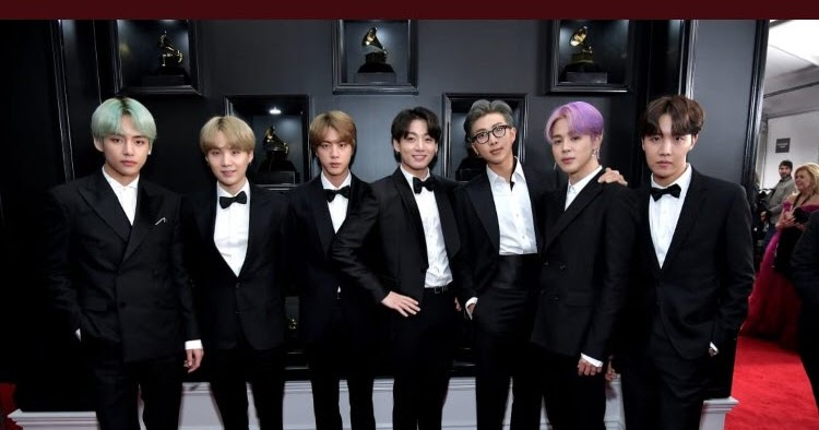 BTS arrives in style at the 2019 Grammy Awards