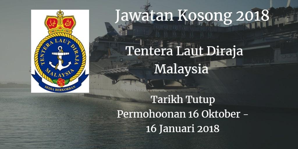 Jawatan Kosong Tentera Laut Diraja Malaysia 16 Oktober 2018 - 16 Januari 2019