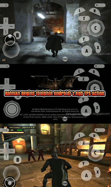 Batman Begins (Dolphin Android) 1.4gb iso Tanpa extract TPS Action Superhero