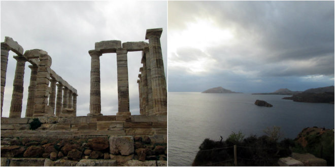 Athens, the ancient city of our past by Laka kuharica: Poseydon's temple, view from the Sounion