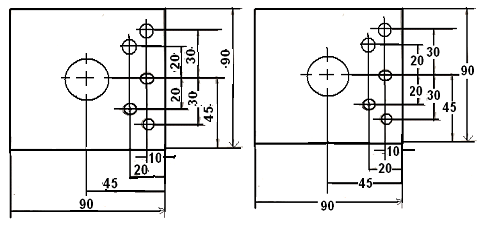 dimensioning method for the part